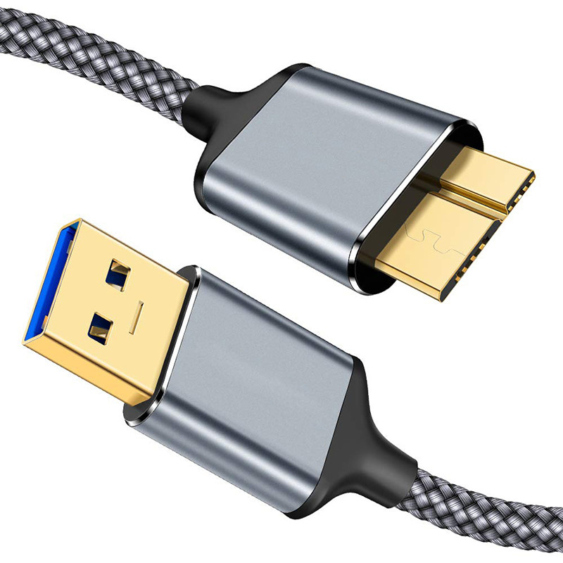USB 3.0 A to Micro B Cable-6.6FT
