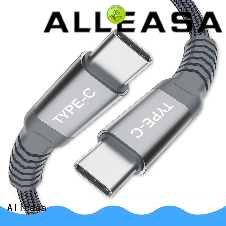 Alleasa tangle free usb c to usb c great for