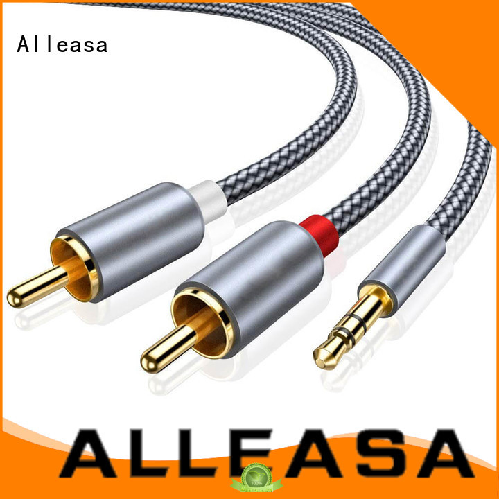 Alleasa excellent sound quality rca y cable transmit audio signals